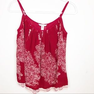 CABI RED WHITE HEART OF TOWNSHIP TANK SZ S